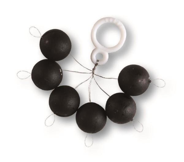 Fixpilot rund schwarz, 12mm,