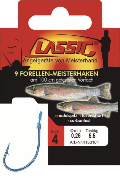 Cl. Forellenhk. geb. blau, 100 cm, Gr. 6,