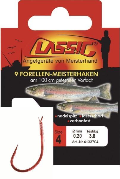 Cl. Forellenhk. geb. rot, 100 cm, Gr. 10,